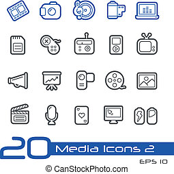 Media Icons // Line Series