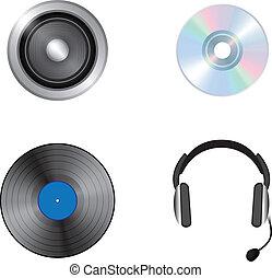 Media Icons - Media icons. Vector set