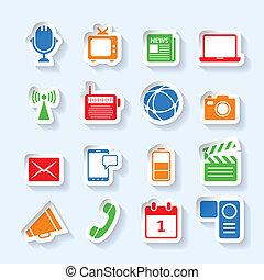 Media icons set
