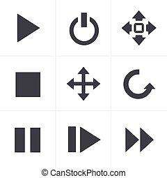 media Icons Set, Vector Design