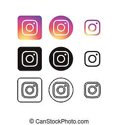 media, ikony, towarzyski, instagram