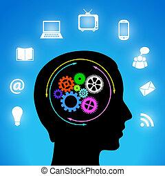 Media in my mind, vector illustration