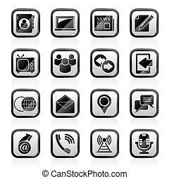 media, kommunikation, ikonen