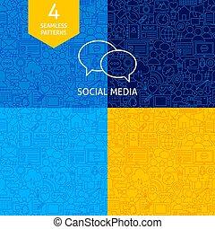 media, lijn, sociaal, motieven