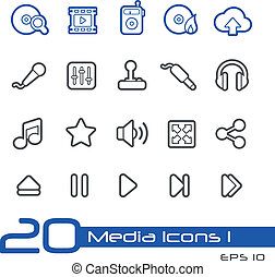 //, media, linea, icone, serie