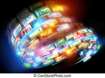 Media Loops. Connected media and social events broadcast throughout the world.