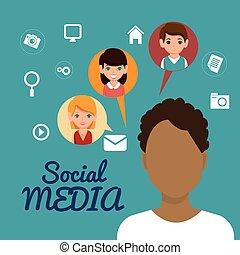 media, man, vriendschap, karakter, sociaal