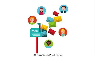 media, marketing, brievenbus, email, sociaal
