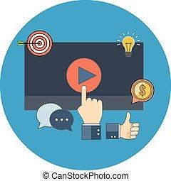 Media marketing concept. Flat design.