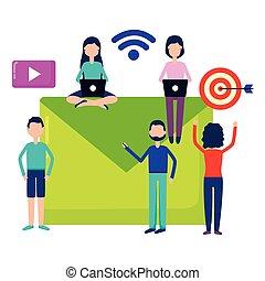 media, mensen, sociaal