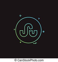 media network social stumble upon icon vector