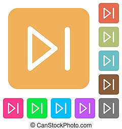 Media next rounded square flat icons