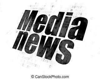 media, notizie, concept:, fondo, digitale