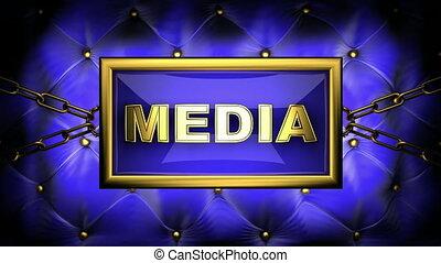 media  on velvet background