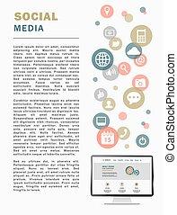 media, pagina, sociaal