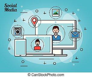 media, persone, sociale