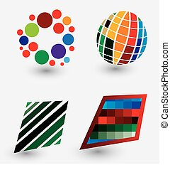 media, pixel, mondo, logos