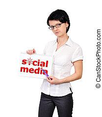 media, plakat, towarzyski