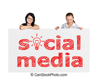 media, plakkaat, sociaal