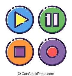 Media Player Button Flat Icon