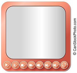 Media player buttons collection -