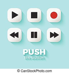 Media player buttons