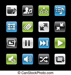 Media Player Glossy Buttons