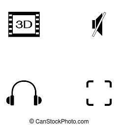 media player icon set