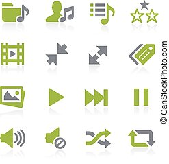Media Player Icons. Natura - Icons for your web, mobile or...