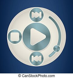 Media player interface template