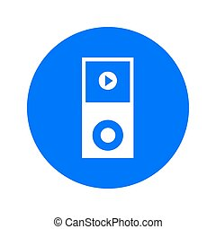 Media player symbol. - Portable media player icon. Flat...