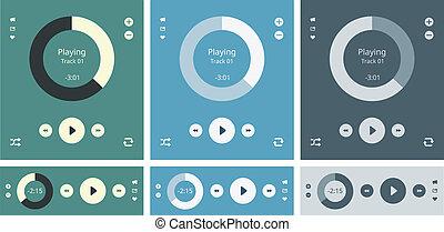 Media player vector interface