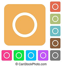 Media record rounded square flat icons