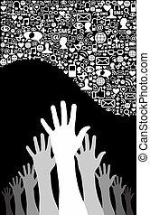 media, rete, affari, sociale