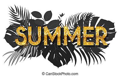 media, słowo, towarzyski, lato, chorągiew, kasownik, ilustracja, tło.