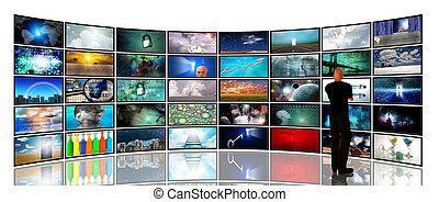 media, schermen