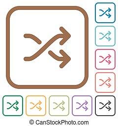 Media shuffle simple icons