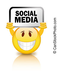 media, smiley, sociaal