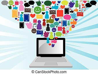 media, sociaal, communicatie