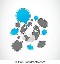 media, sociaal, groep, wereld
