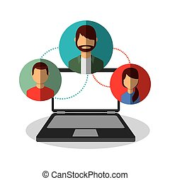 media, sociaal, netwerk, iconen