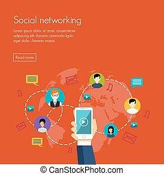 media, sociaal, netwerk, marketing
