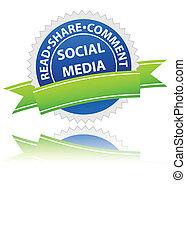 media, sociaal, pictogram
