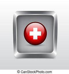 Media social icon. Detailed button for design. EPS10 vector