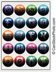 media, social, ikon