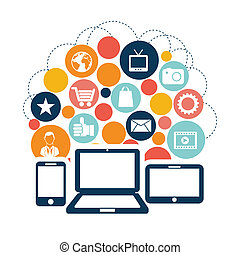 media, social, ikonen