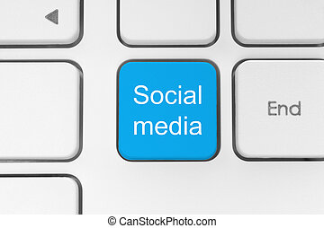 media, sociale, bottone