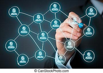 media, sociale, concetto