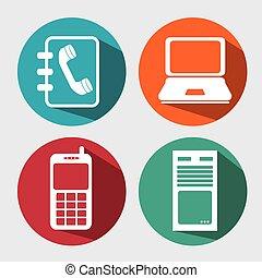 media, sociale, icona comunicazione