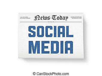 media, sociale, notizie